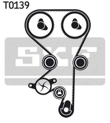 Запчасть VKMC 05228 SKF Комплект (ремінь+ролик+помпа) фото