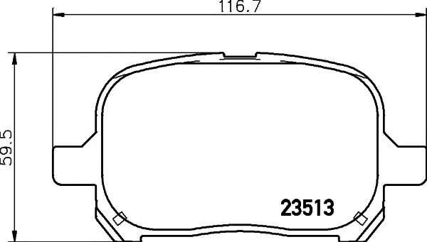 Запчасть 2351302 TEXTAR Гальмівні колодки дискові фото