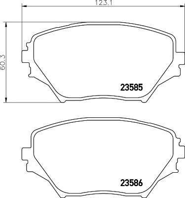 Запчасть 2358501 TEXTAR Гальмівні колодки дискові фото