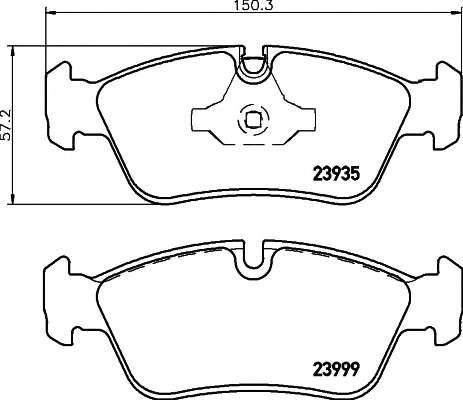 Запчасть 2393501 TEXTAR Колодки тормозные фото