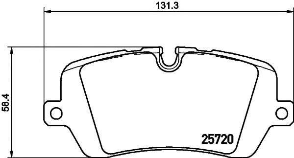 Запчасть 2572001 TEXTAR Гальмівні колодки LAND ROVER Defender/Range Rover \R \12>> фото