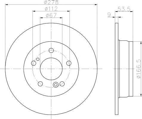 Запчасть 92032703 TEXTAR Диск гальмівний MERCEDES C(W203)/E(W210) \R D=278mm \85-11 фото