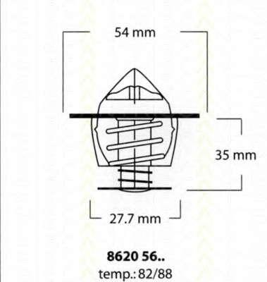 Запчасть 86205682 TRISCAN Термостат Citroen/Peugeot 1.8D-2.0D 85- фото