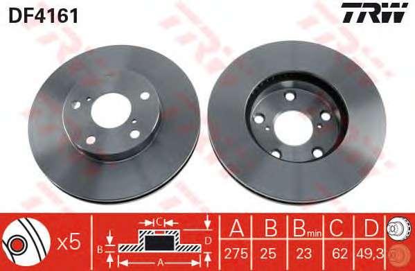 Запчасть DF4161 TRW DF4161  TRW - Гальмівний диск фото
