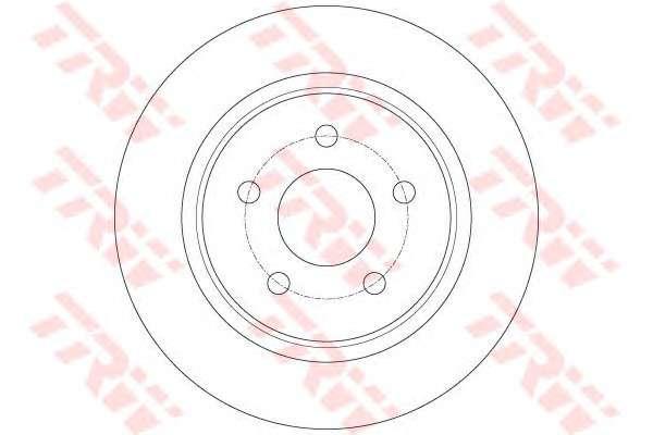 Запчасть DF6150 TRW Диск гальмівний (1 шт.) FORD C-Max/Kuga \R D=280mm \10>> фото