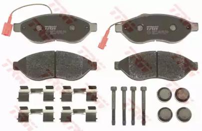 Комплект тормозных колодок, дисковый тормоз gdb1681 trw