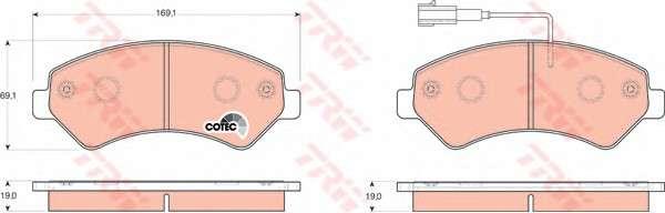 Запчасть GDB1703 TRW \GDB1703  TRW - Гальмівні колодки до дисків\ фото