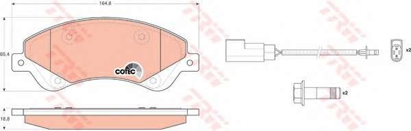 Запчасть GDB1723 TRW Колодка торм. диск. FORD TRANSIT передн. (пр-во TRW) фото