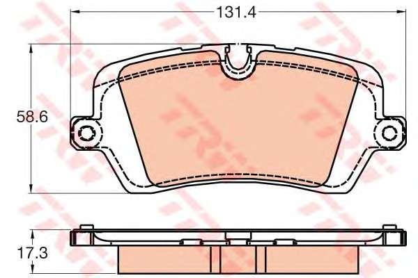 Запчасть GDB2029 TRW Комплект тормозных колодок, дисковый тормоз фото