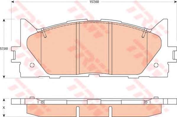 Запчасть GDB3429 TRW Колодка торм. диск. TOYOTA CAMRY передн. (пр-во TRW) фото