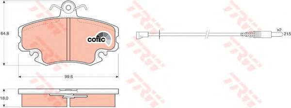 Запчасть GDB400 TRW Колодка торм. диск. RENAULT 19 I (B/C53) передн. (пр-во TRW) фото