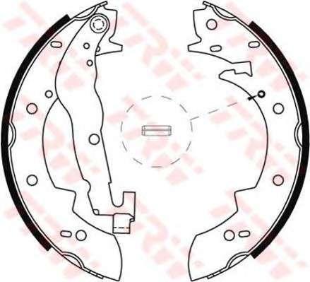 Запчасть gs6237 trw Комплект тормозных колодок
