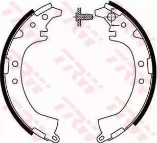 Комплект тормозных колодок gs8672 trw