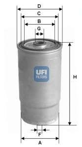 Запчасть 24.012.00 UFI Паливний фільтр фото