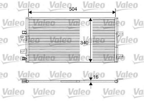Запчасть 817687 VALEO Радиатор кондиционера фото