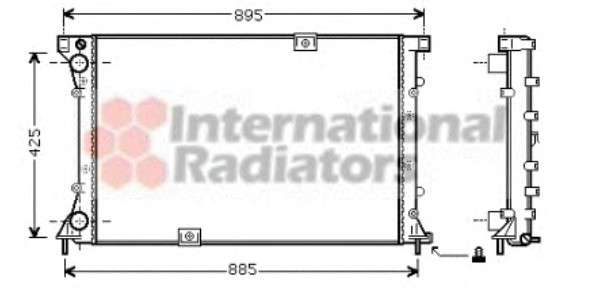 Запчасть 43002313 VAN WEZEL Радиатор охлаждения OPEL, RENAULT (пр-во Van Wezel) фото