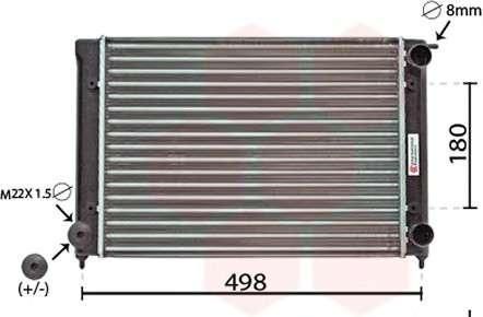 Запчасть 58002040 VAN WEZEL Радиатор охлаждения двигателя GOLF2/JETTA/SCIR 1.5/1.6 (Van Wezel) фото