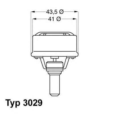 Запчасть 3029.89 WAHLER Термостат Renault Volvo фото