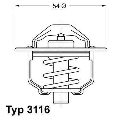 Запчасть 3116.89D WAHLER Термостат фото