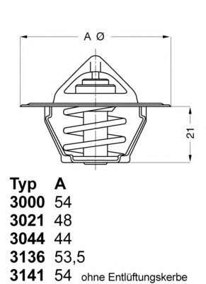 Запчасть 3141.87D WAHLER Термостат // Audi Seat Skoda VW фото