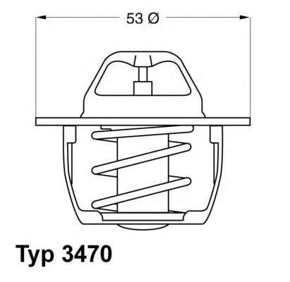 Запчасть 3470.89D50 WAHLER Термостат Mitsubishi Opel Renault Volvo фото