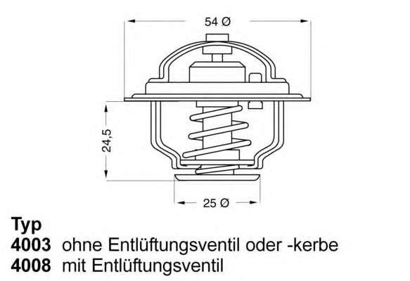 Запчасть 4008.79D WAHLER Термостат FIAT; OPEL; RENAULT (пр-во Wahler) фото