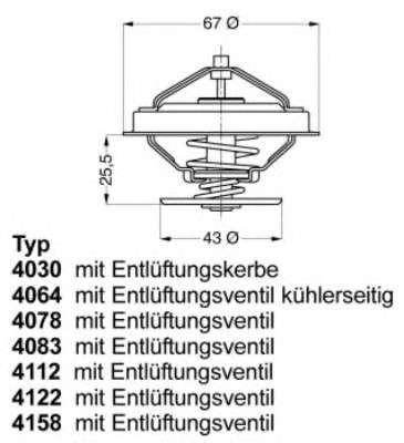 Запчасть 4078.79D WAHLER Термостат MAN MB Neoplan фото