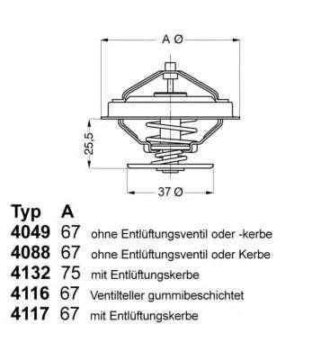 Запчасть 4117.80D WAHLER Термостат MB G-Class Kombi фото