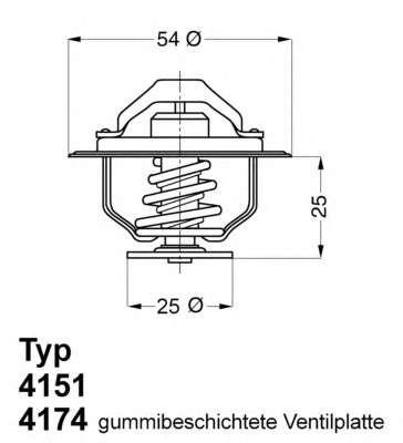 Запчасть 4151.76D WAHLER Термостат OPEL; RENAULT (пр-во Wahler) фото