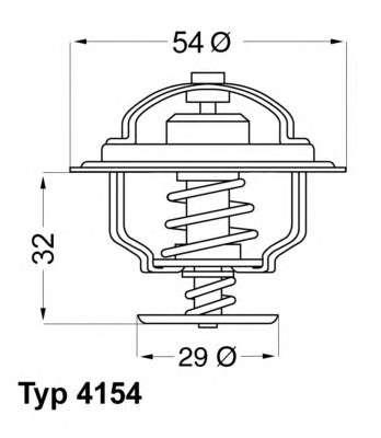 Запчасть 4154.88D WAHLER Термостат Saab 9-3 9-5 900 фото