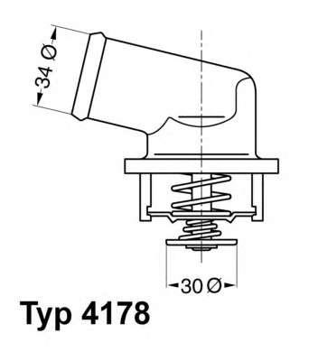 Запчасть 4178.92D WAHLER Термостат Opel Astra F H Combo Corsa B Tigra Vectra B фото