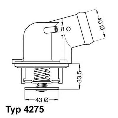 Запчасть 4275.87D WAHLER Термостат MB VW фото