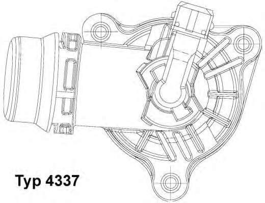 Запчасть 4337105D WAHLER Термостат BMW E46 фото