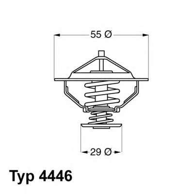 Запчасть 4446.83D WAHLER Термостат фото