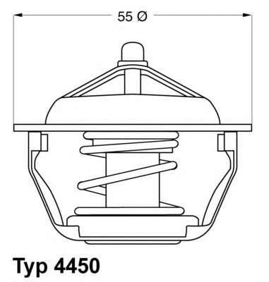 Запчасть 4450.83D WAHLER Термостат Citroen Fiat Lancia Peugeot фото