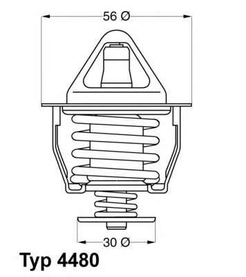 Запчасть 4480.82D WAHLER Термостат Toyota фото